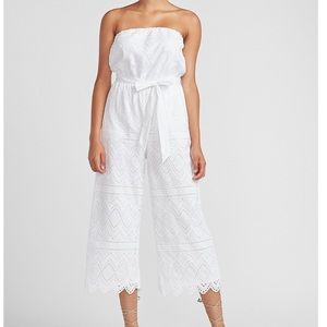BRAND NEW strapless lace jumpsuit